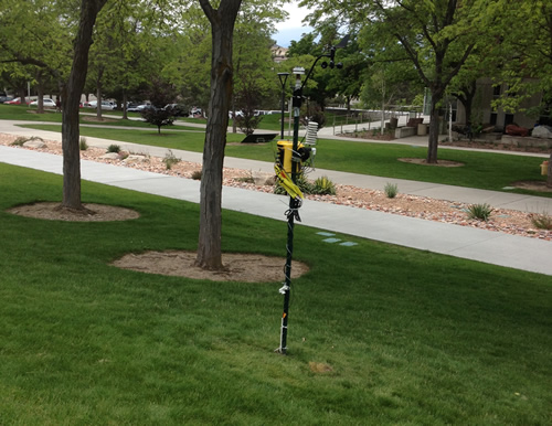 Here is one of the super LEMS (a super LEMS has more sensors than regular LEMS) that we have deployed around campus.