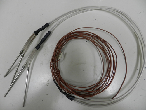 Completed thermocouple with tips and tubing