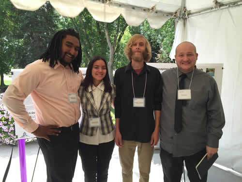 Jordan, Viviane, Matt J, and Matt B at the iUTAH Symposium
