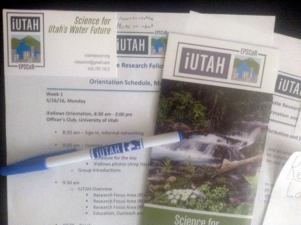 iUTAH Swag from orientation!