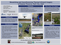Mosaicking and Georeferencing Thermal Infrared Imagery of Swaner Preserve, Park City Utah