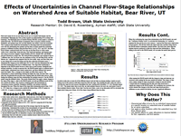 Effects of Uncertainties in Channel Flow-Stage Relationshipson Watershed Area of Suitable Habitat, Bear River, UT