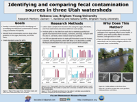 Identifying and comparing fecal contaminationsources in three Utah watersheds