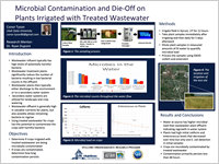 Microbial Contamination and Die-Off onPlants Irrigated with Treated Wastewater
