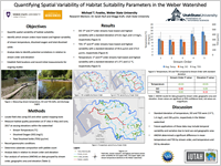 Quantifying Spatial Variability of Habitat Suitability Parameters in the Weber Watershed