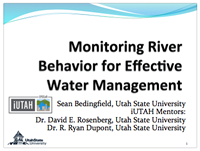 Monitoring River Behavior for Effective  Water Manangement