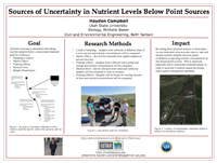 Sources of Uncertainty in Nutrient Levels Below Point Sources