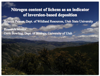 Nitrogen content of lichens as an indicatorof inversion-based deposition