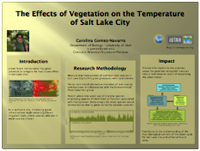 The Effects of Vegetation on the Temperature of Salt Lake City