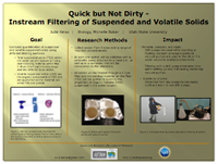 Quick but Not Dirty - Instream Filtering of Suspended and Volatile Solids