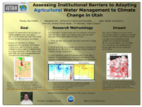 Assessing Institutional Barriers to Adapting Agricultural Water Management to Climate Change in Utah