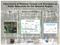 Importance of Montane Forests and Snowpack as Water Resources for the Wasatch Region