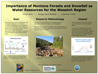 Importance of Montane Forests and Snowfall as Water Resources for the Wasatch Region