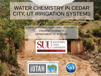 Water Chemistry in Cedar City, UT Irrigation System