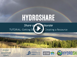 Getting Started and Creating a Resourse in HydroShare